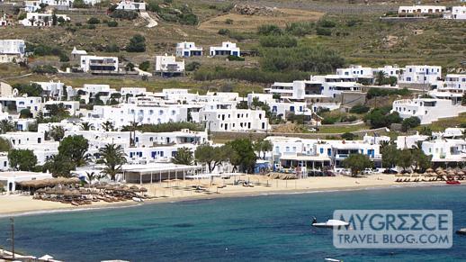 Ornos beach on Mykonos