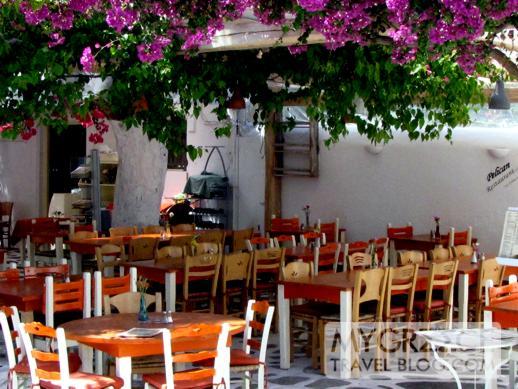 Pelican restaurant at Goumenio Square Mykonos