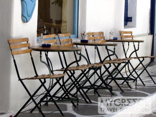 Philippi restaurant on Kalogera Street in Mykonos