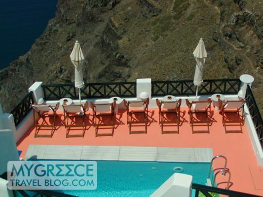Santorini swimming pool terrace