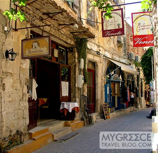 a street in Chania Crete