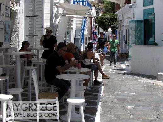 snack bar in Mykonos Town