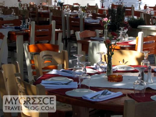 a restaurant at Goumenio Square in Mykonos Town