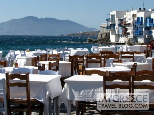 taverna at Little Venice on Mykonos