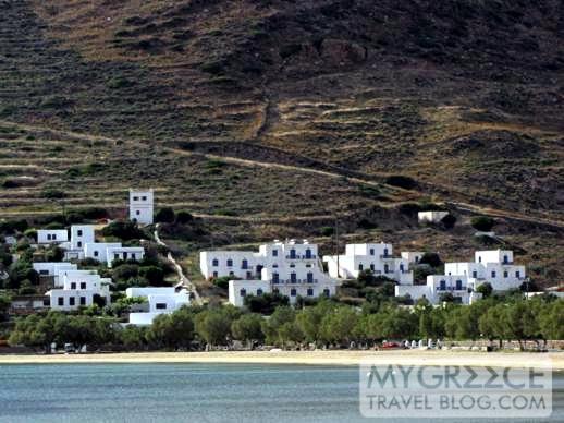 Buildings near Gialos beach on Ios