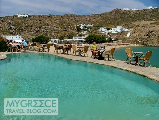Best Island Beaches For Partying Mykonos St Barts: Coco Beach Club's Swimming Pool At Super Paradise Mykonos