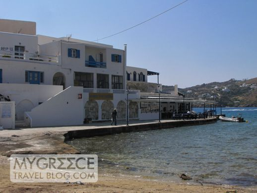 Drakos Taverna at Mylopotas beach on Ios
