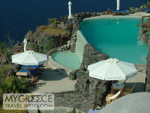 Honeymoon Petra Villas swimming pool on Santorini