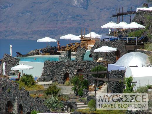 Honeymoon Petra Villas swimming pool on Santorini