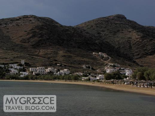 Mountains near Gialos beach and harbour