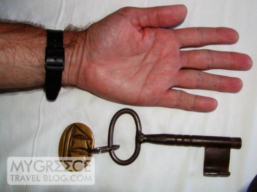 Naxos Beach II hotel room key