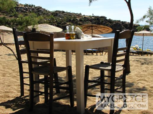 Nicolas taverna at Agia Anna beach