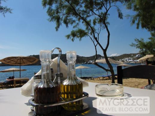 Nicolas taverna at Agia Anna beach on Mykonos