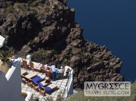 Pegasus Suites Santorini swimming pool terrace