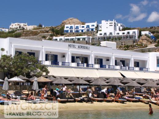 Acrogiali Hotel at Platis Gialos beach Mykonos