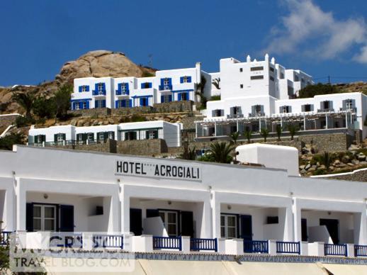 Hotel Acrogiali and Myconian Ambassador Hotel at Platis Gialos