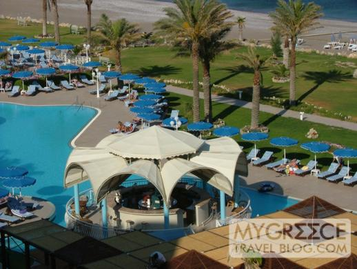 The Swimming Pool At The Rodos Palladium Hotel On Rhodes
