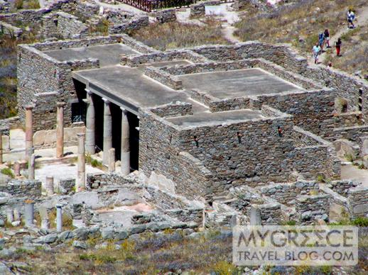 Delos island archaeological sites