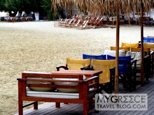 beachside bars and tavernas at Kamares on Sifnos
