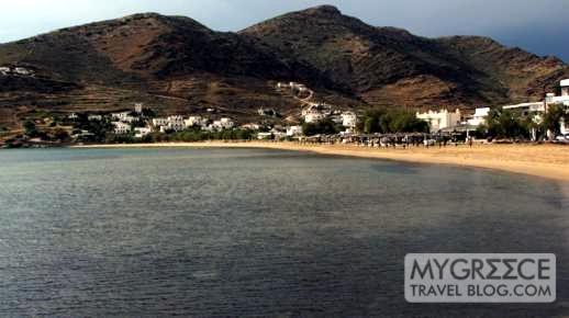 Gialos Port beach on Ios