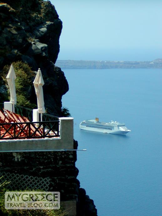 seaview terrace in Imerovigli