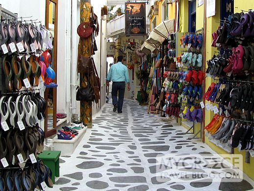 shopping street in Naxos Town