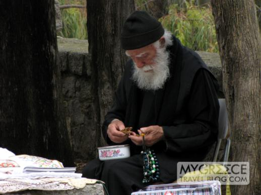 a monk on Patmos