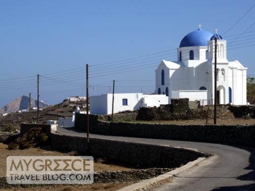 church near Ano Mera village on Folegandros