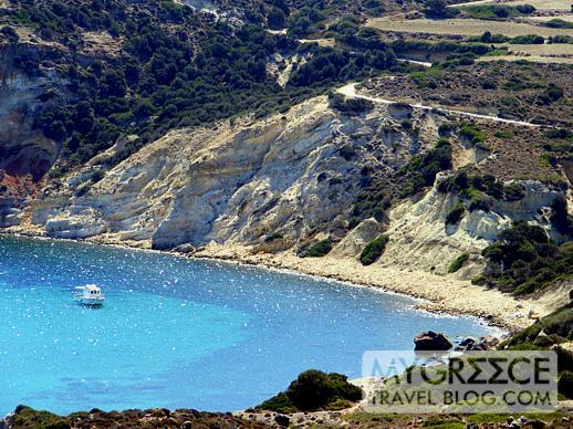 a bay on Milos island