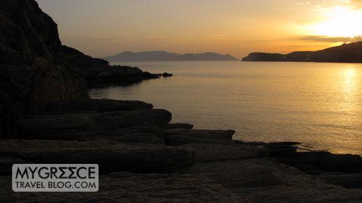 Mylopotas Bay Ios at sunset