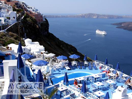Kafieris Blue Apartments swimming pool in Santorini