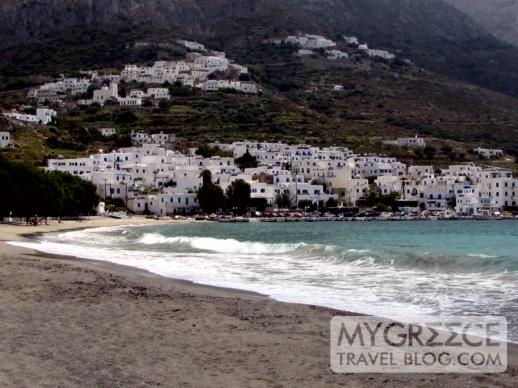Egiali beach on Amorgos