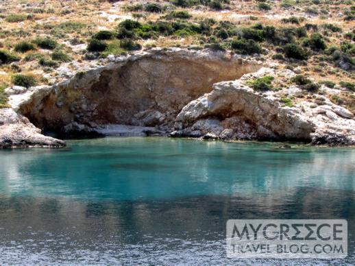 a cove at Mersini Bay on Schinoussa