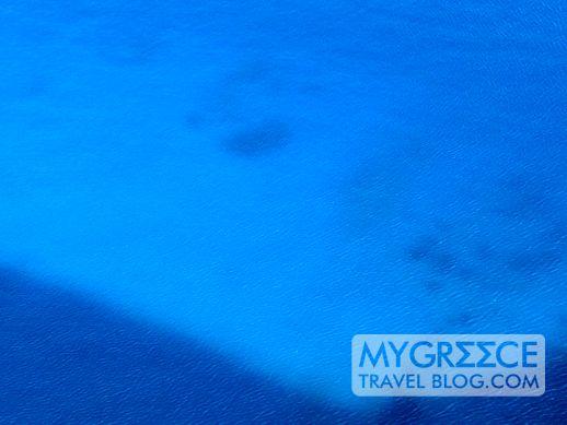 vivid blue Aegean Sea