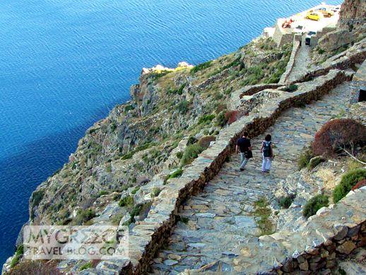 Chozoviotissa Monastery pathway