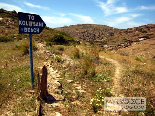 Kolitsani beach trail on Ios