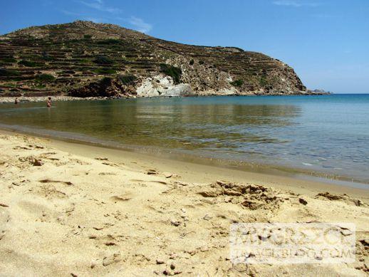 Kolitsani beach and bay on Ios