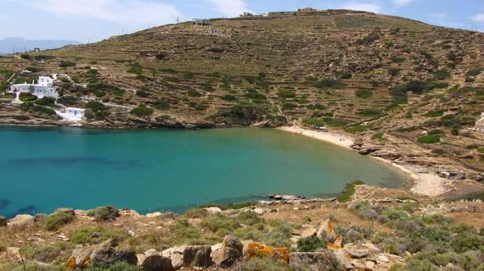 Kolitsani beach on Ios island