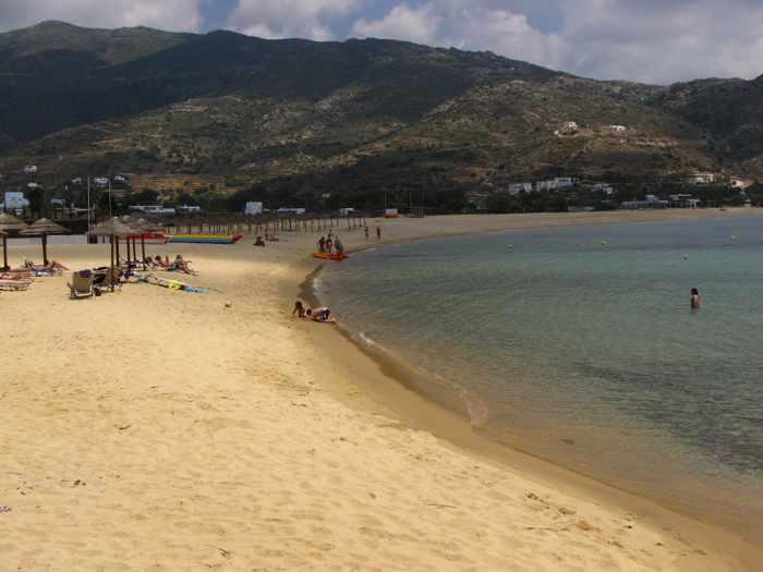 Mylopotas beach on Ios island