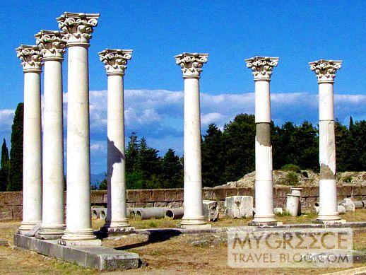 Temple of Apollo columns at the Asklepieion