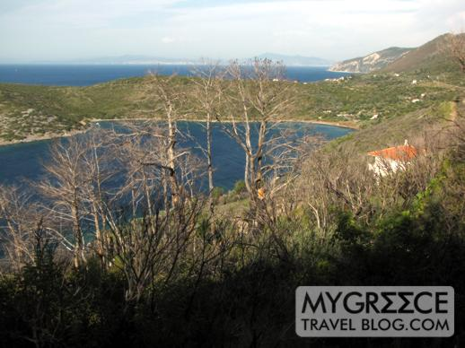 a quiet bay near Agia Paraskevi on Samos