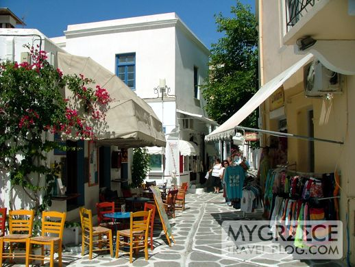 a street in Paroikia on Paros