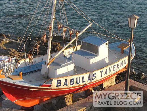 octopus drying at Babulas Taverna Mykonos