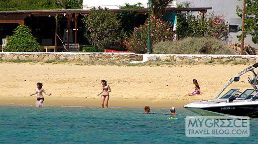 swimming at Mylopotas beach Ios