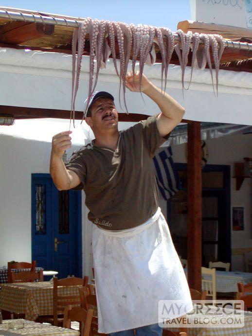 octopus in Naoussa village on Paros