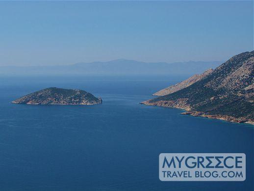 Grambonissi island and Nikouria island