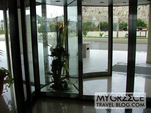 plant in the revolving door at the Rodos Palladium
