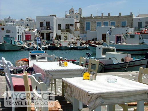 Naoussa harbour on Paros