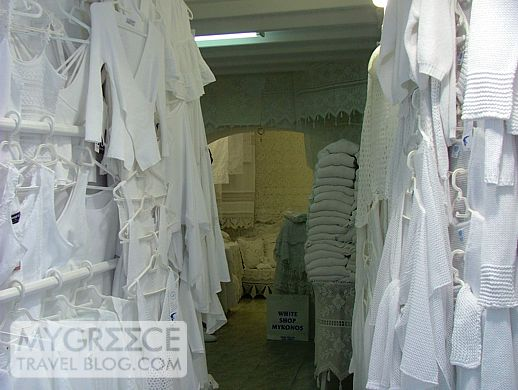 White Shop in Mykonos Town