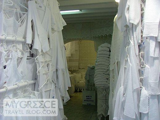 White Shop in Mykonos Town